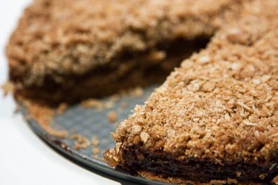 Pear butter crumble