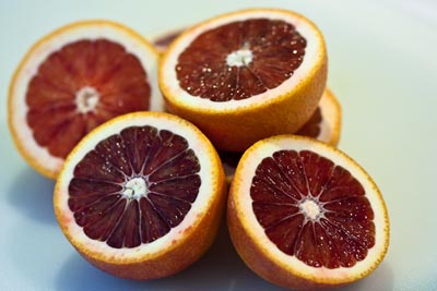 blood orange halves