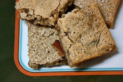 bacon bourbon blondies