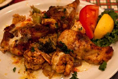 Blackened Grouper Throats and Shrimp