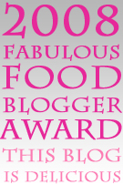 fabulous food blogger award