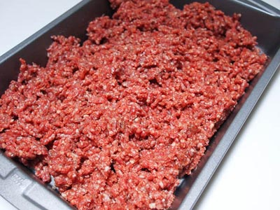 ground hot dog meat
