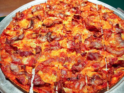 bacon pizza