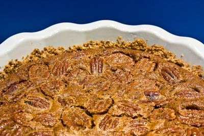 oat crusted pecan pie