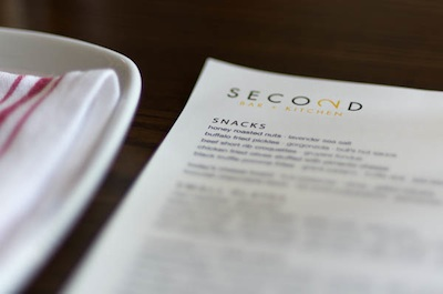 menu at second bar