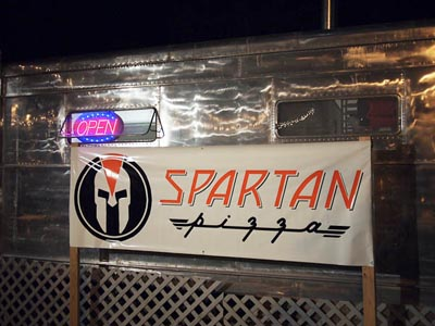 spartan pizza sign