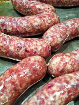 links of fresh turkey cranberry sausage