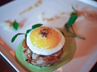 usagi yaki - rabbit torchon with quail egg